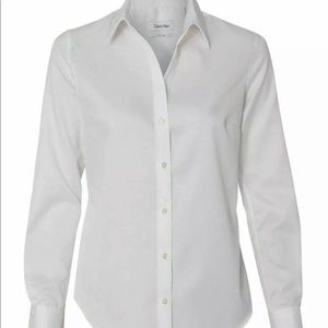 Calvin Klein NonIron Dress Shirt White Button Up 6